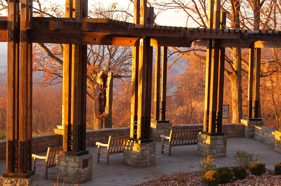 Ault Park Overlook by Peter Wimberg
